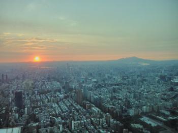 Sonnenuntergang von 101 aus gesehen