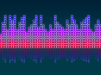 Soundwaves Background Means Making Music And DJing