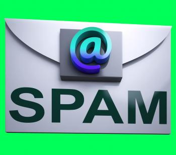 Spam Envelope Shows Junk Mail Electronic Spamming