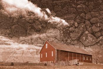 Spangler Weathered Sky Farm - Sepia Nostalgia