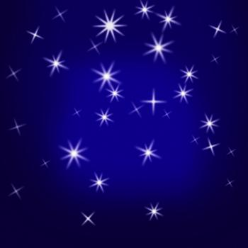 Sparkling Stars Background Means Glittering Galaxy Or Universe