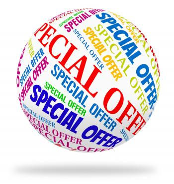 Special Offer Shows Words Sales And Notable