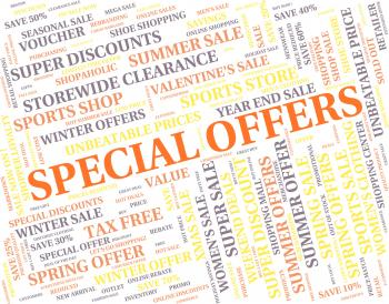 Special Offers Represents Discounts Notable And Promo