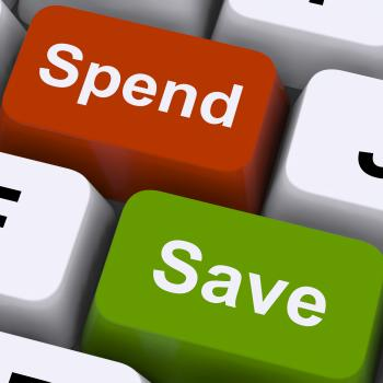 Spend Or Save Keys Show Budget And Saving