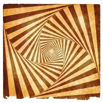 Spiral Tunnel Grunge - Sepia