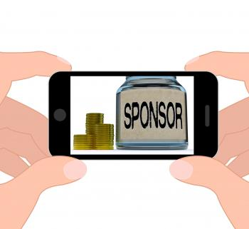 Sponsor Jar Displays Sponsorship Benefactor And Giving