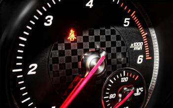 Sports Car RPM Gauge Speeding