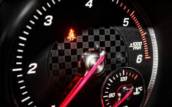 Sports Car RPM Gauge Speeding