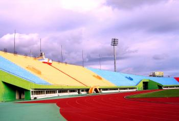 Sports Stadium Sideview