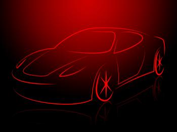 Sportscar Modern Represents Sports-Car Supercar And Autosport