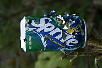 Sprite can with bullet holes