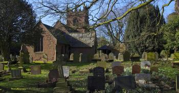 St Oswald's Churchyard at Backford Cheshire