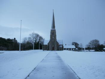St. John's Church in snow, 2017