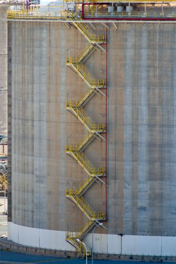 Stairs on an Oil Storage Tank