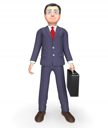 Standing Businessman Indicates Entrepreneurial Stood And Entrepreneur
