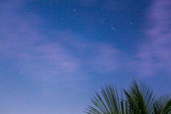 Starry Sky during Dusk