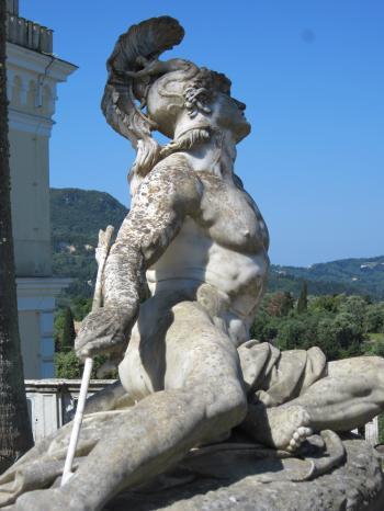 Statue of Achilles on Corfu island, Gree
