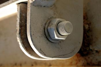 Steel bolt and nut