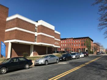 Steuart Hill Academic Academy/Steuart Hill Elementary School (1969; Tatar & Kelly, architect), 30 S. Gilmor Street, Baltimore, MD 21223