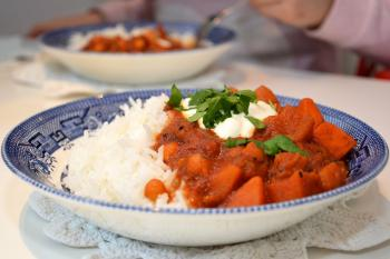 Stew with rice