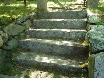 Stone steps stairs