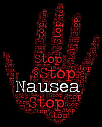 Stop Nausea Means Travel Sickness And No