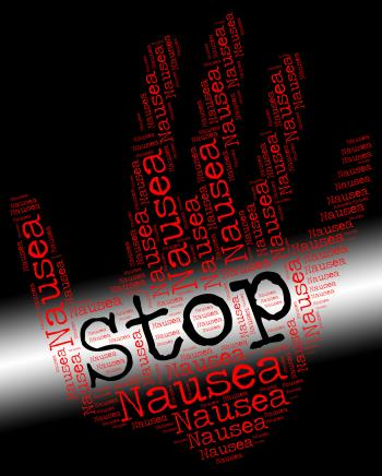 Stop Nausea Shows Throw Up And Control