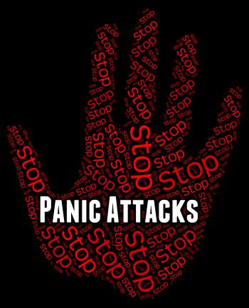 Stop Panic Shows Warning Sign And Attack