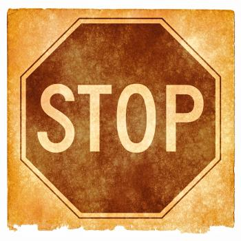 Stop Sign Grunge