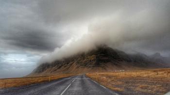 Storm Clouds over Highway