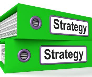 Strategy Folders Show Strategic Planning And Business Processes
