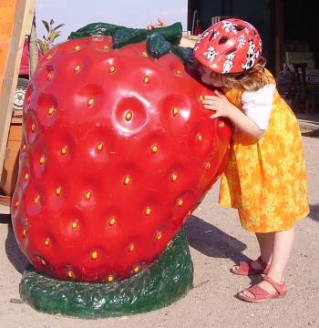 Strawberry Sculpture