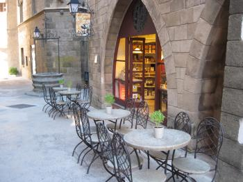 Street cafe in Barcelona, Spain