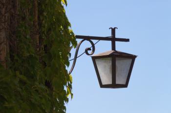 Street lamp in old city