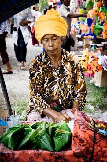 street vendor selling food on the street
