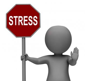 Stress Stop Sign Shows Stopping Tension And Pressure
