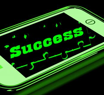 Success On Smartphone Showing Progression
