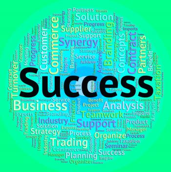 Success Word Represents Win Wordcloud And Winner