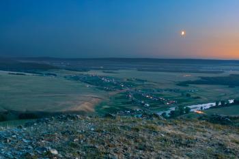 summer night landscape