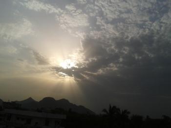 Sun rays in morning