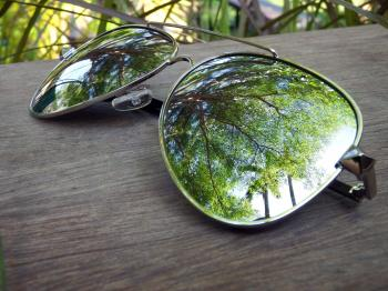 Sunglasses Reflection of Summer