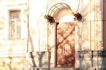 Sunny architecture scene
