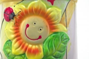 Sunny face pot