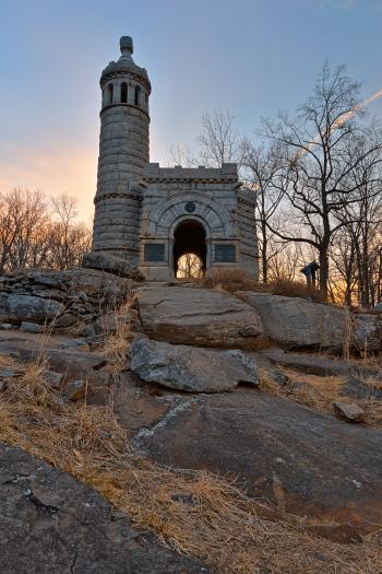 Sunrise Gettysburg Castle - HDR