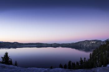 Sunset, Crater Lake, Oregon