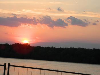 Sunset View on Danube River