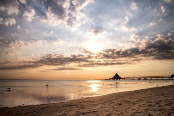 Sunset Viewed on Ocean