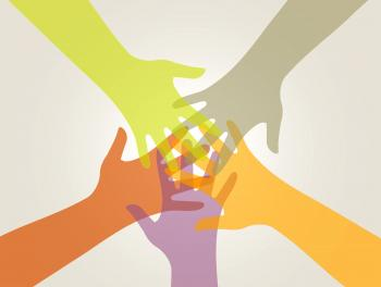 Support and Union - Partnership Concept with Hands