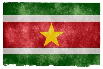 Suriname Grunge Flag