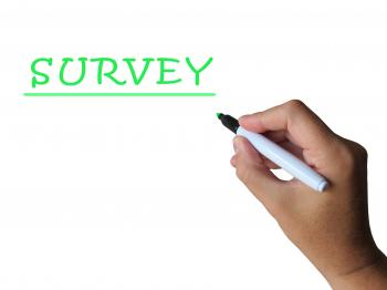 Survey Word Means Collecting Information From Sample